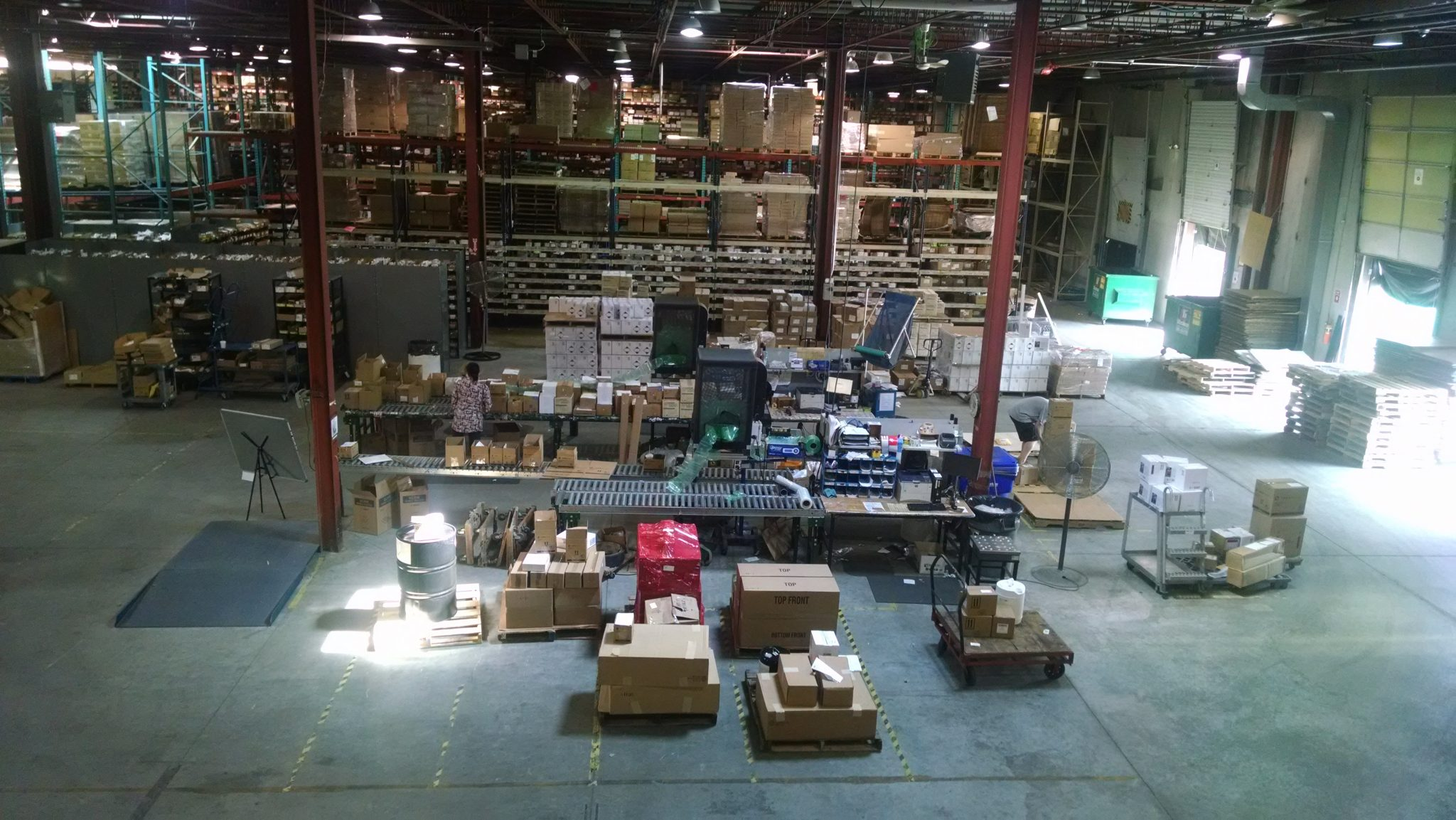 Lawson Products Mississauga Distribution Center before LED conversion