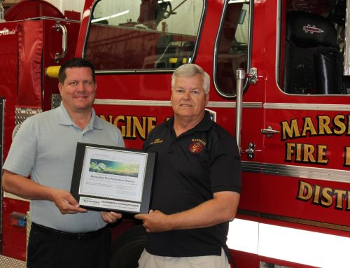 Marseilles Fire Protection District Receives Environmental Stewardship Award from Sustainable Lighting Solutions